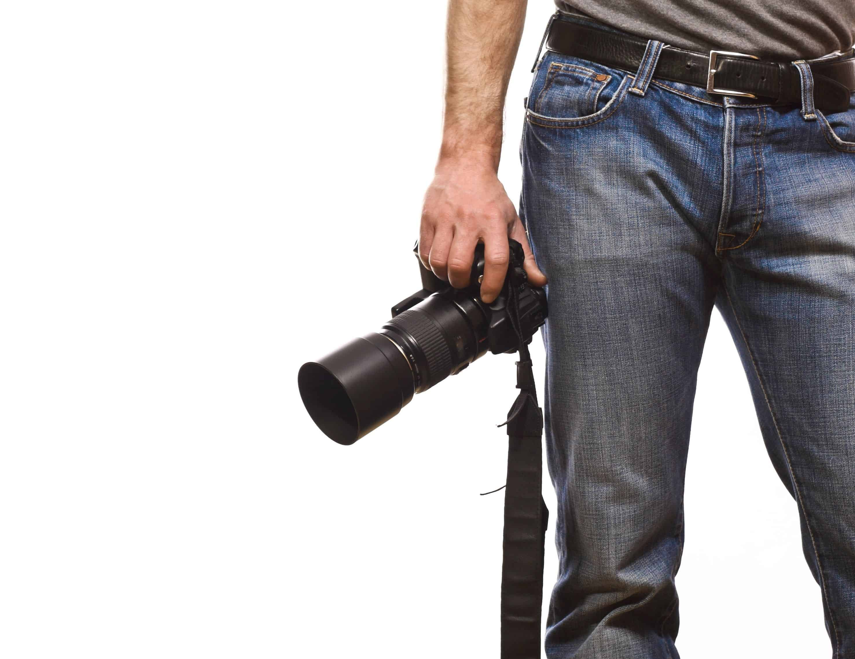 4709335 - detail of photographer isolated on white background